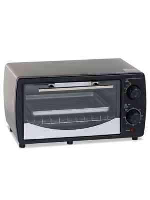 Toaster Oven, 0.32 cu ft Capacity, Stainless Steel/Black, 14 1/2 x 11 1/2 x 8