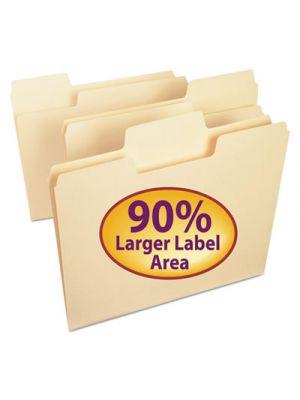 SuperTab File Folders; 1/3 Cut Top Tab; Letter; Manila; 24/Pack