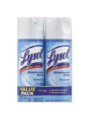 Disinfectant Spray, Crisp Linen, 12.5 oz Aerosol, 2/Pack