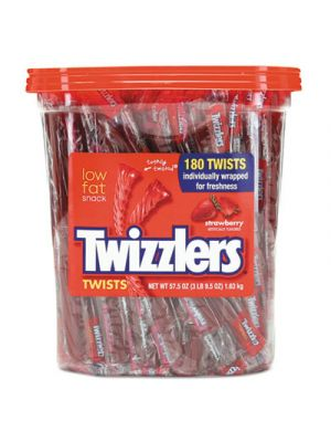 Strawberry Twizzlers Licorice, Individually Wrapped, 180/Tub