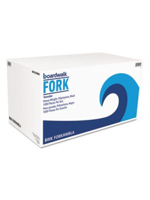 Heavyweight Polystyrene Cutlery, Fork, Black, 1000/Carton