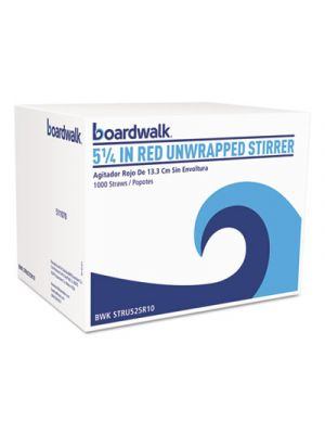 Unwrapped Single-Tube Stir-Straws, 5 1/4