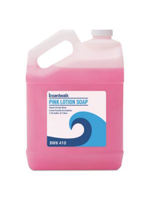 Mild Cleansing Pink Lotion Soap, Floral-Lavender, Liquid, 1gal Bottle, 4/Carton