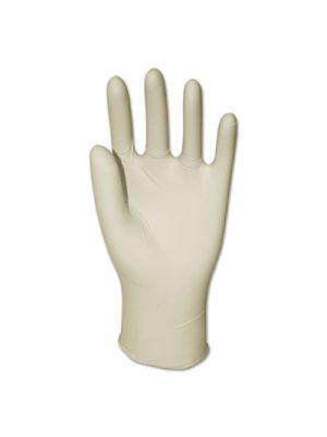 Latex General-Purpose Gloves, Powder-Free, Natural, Large, 4 mil, 100/Box