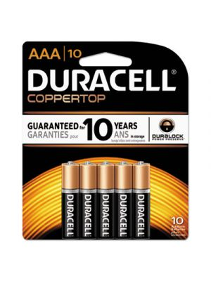 CopperTop Alkaline Batteries with Duralock Power Preserve Technology, AAA, 10/PK