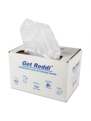 Get Reddi Freezer Food Storage Bags, .5 mil, 8 lb, 27 x 37, Clear, 200/Carton