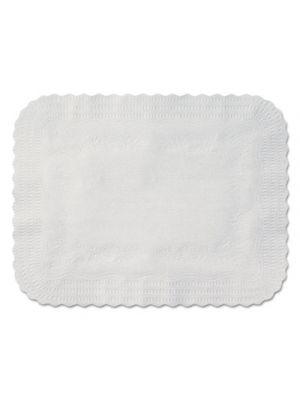 Scalloped Edge Traymat, Bond Paper, White, 19 1/8 x 14, 1000/Carton