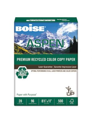 ASPEN Premium Recycled Paper, 96 Bright, 28lb, Letter, White, 500 Sheets