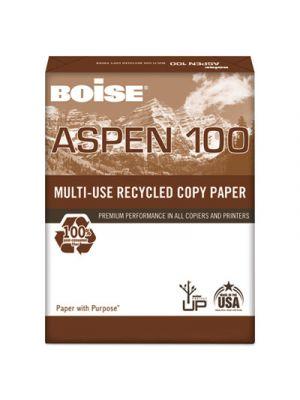 ASPEN 100% Multi-Use Recycled Paper, 92 Bright, 20lb, 11 x 17, White, 2500/CT
