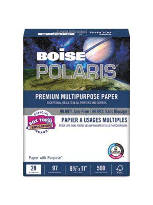 POLARIS Premium Multipurpose Paper, 8 1/2 x 11, 28lb, White, 3000 Sheets/Carton