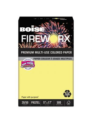 FIREWORX Colored Paper, 20lb, 11 x 17, Crackling Canary, 500 Sheets/Ream