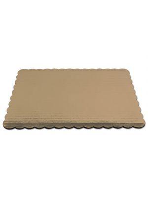 Cake Pad, Gold, 14 x 10, Mylar, 100/Carton