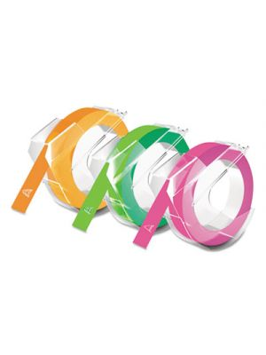 Self-Adhesive Glossy Labeling Tape for Embossers, 3/8