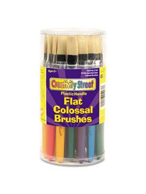 Colossal Brush, Natural Bristle, Flat, 30/Set