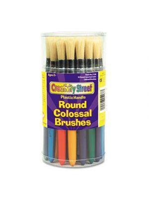 Colossal Brush, Natural Bristle, Round, 30/Set