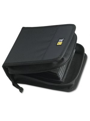 CD/DVD Wallet, Holds 32 Discs, Black