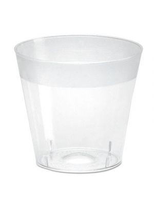Plastic Shot Glasses, 1 oz, Clear, 2500/Carton