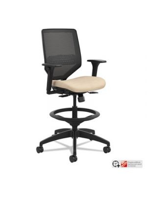Solve Series Mesh Back Task Stool, Putty