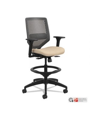 Solve Series ReActiv Back Task Stool, Putty