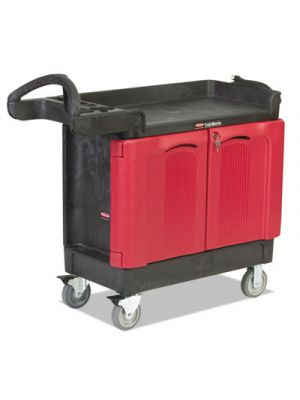 TradeMaster Cart, 500-lb Cap, Two-Shelf, 18-1/4w x 41-5/8d x 38-3/8h, Black