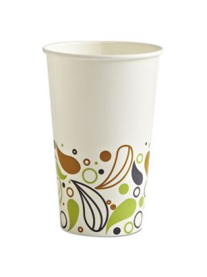 Deerfield Printed Paper Cold Cups, 16 oz, 50 Cups/Pack, 20 Packs/Carton