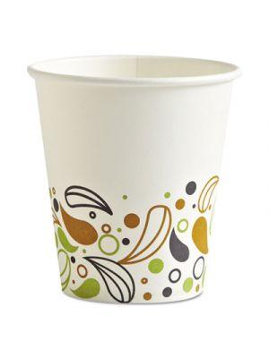 Deerfield Printed Paper Hot Cups, 10 oz, 50 Cups/Pack, 20 Packs/Carton