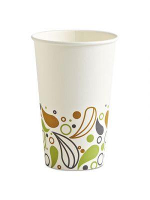 Deerfield Printed Paper Hot Cups, 16 oz, 50 Cups/Pack, 20 Packs/Carton