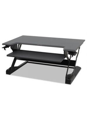 WorkFit-TL Desktop Sit-Stand Workstation, TAA Compliant, 37 1/2 x 25 x 20, Black