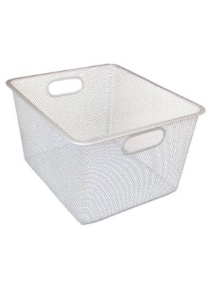 Wire Mesh Nesting Shelving Baskets, 12 x 14 x 7 3/4, Silver, 2/Set