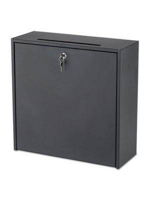 Wall-Mountable Interoffice Mailbox, 18w x 7d x 18h, Black