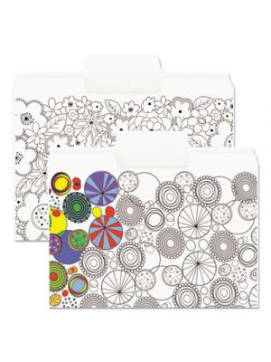 SuperTab Coloring File Folders; 1/3 Cut; 3/4