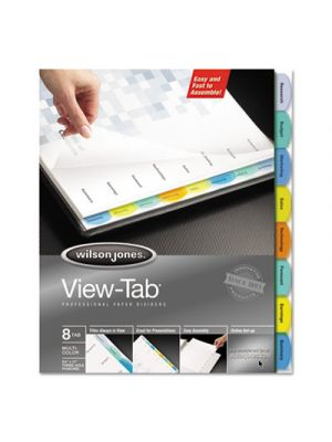 View-Tab Paper Index Dividers, 8-Tab, Square, Letter, Assorted