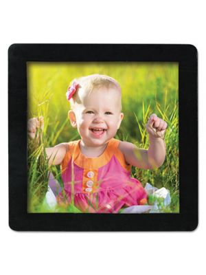 Magnetic Picture Frames, Black, 4 x 4, 4/Pack