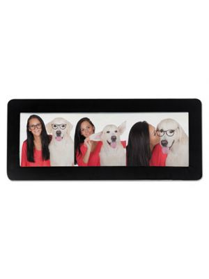 Magnetic Picture Frames, Black, 2 x 6 1/4, 4/Pack