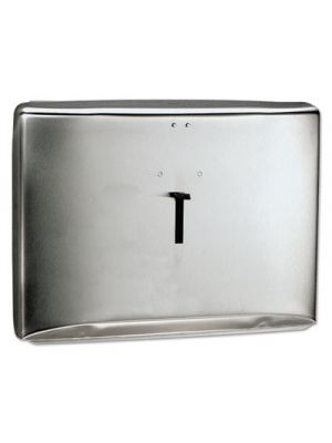 Personal Seats Toilet Seat Cover Dispenser, Stainless Steel, 16.6