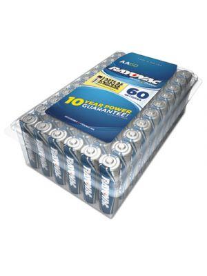 Alkaline Battery, AA, 60/Pack