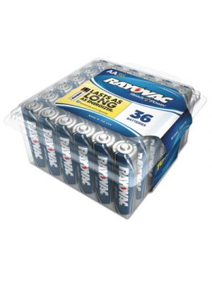 High Energy Premium Alkaline Battery, AA, 36/Pack