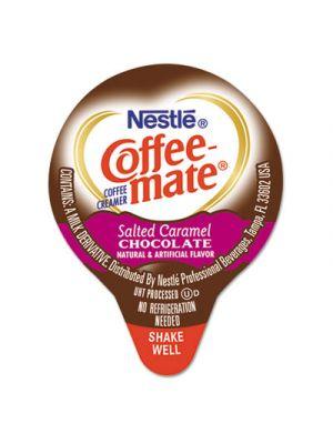 Liquid Coffee Creamer, Salted Caramel Chocolate, 0.375 oz Mini Cups, 180/Carton
