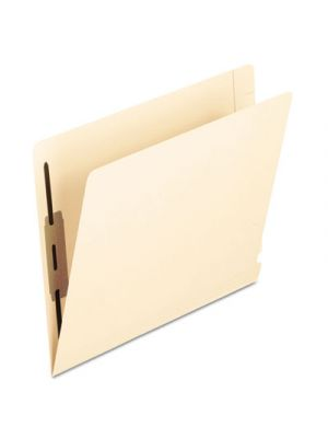 Laminated Spine End Tab Folder with 2 Fasteners; 14 pt Manila; Letter; 50/Box