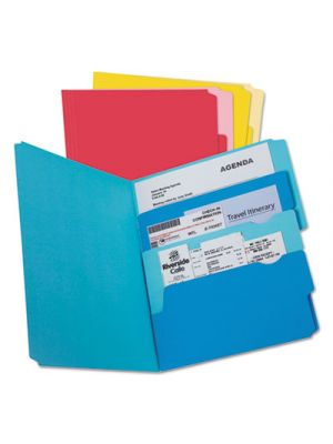 Divide it Up File Folder; Multi Section; 1/2 Cut Tab; Letter; Assorted; 24/Pack