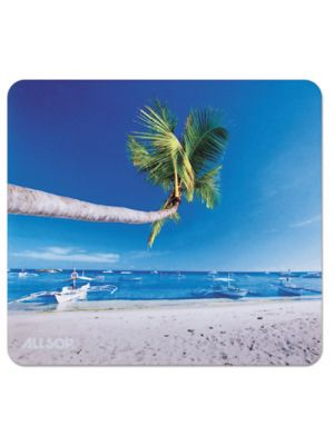 Naturesmart Mouse Pad, Outrigger Beach Design, 8 1/2 x 8 x 1/10