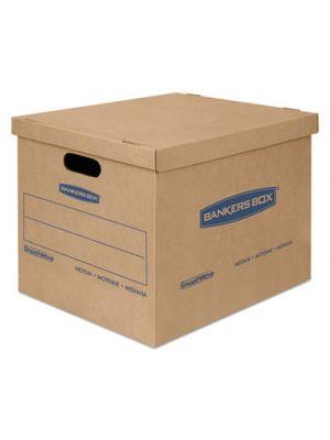 SmoothMove Classic Medium Moving Boxes, 18l x 15w x 14h, Kraft/Blue, 8/Carton