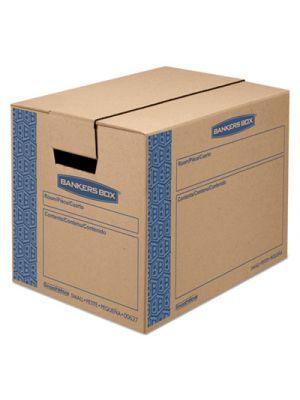 SmoothMove Prime Small Moving Boxes, 16l x 12w x 12h, Kraft/Blue, 10/Carton