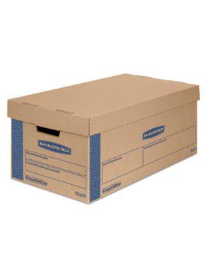 SmoothMove Classic Large Moving Boxes, 21l x 17w x 17h, Kraft/Blue, 5/Carton