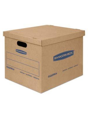 SmoothMove Classic Small Moving Boxes, 15l x 12w x 10h, Kraft/Blue, 20/Carton