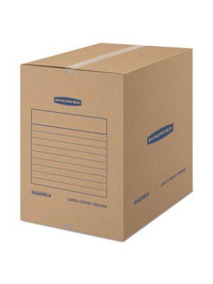 SmoothMove Basic Large Moving Boxes, 18l x 18w x 24h, Kraft/Blue, 15/Carton