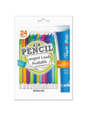 Mates Mechanical Pencils, 0.7 mm, Assorted, 24/Pack