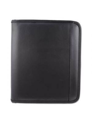 Writing Case, 9 x 10 3/4 x 1 1/2, Black, Leather