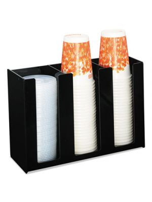 Cup Holder, 12 x 4 x 8, Black, Acrylic