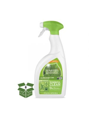 Natural All-Purpose Cleaner, Free & Clear, 32 oz Spray Bottle, 8/Carton